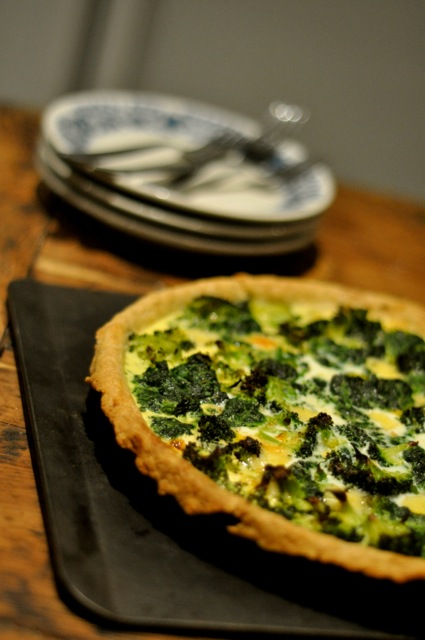 Broccoli-Spinach-Tart