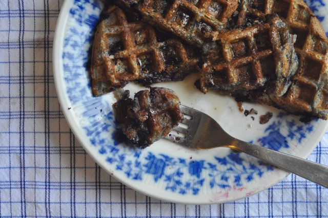blueberry-oat-waffles