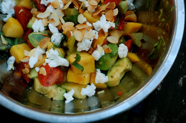 tomato-peach-avocado-salad