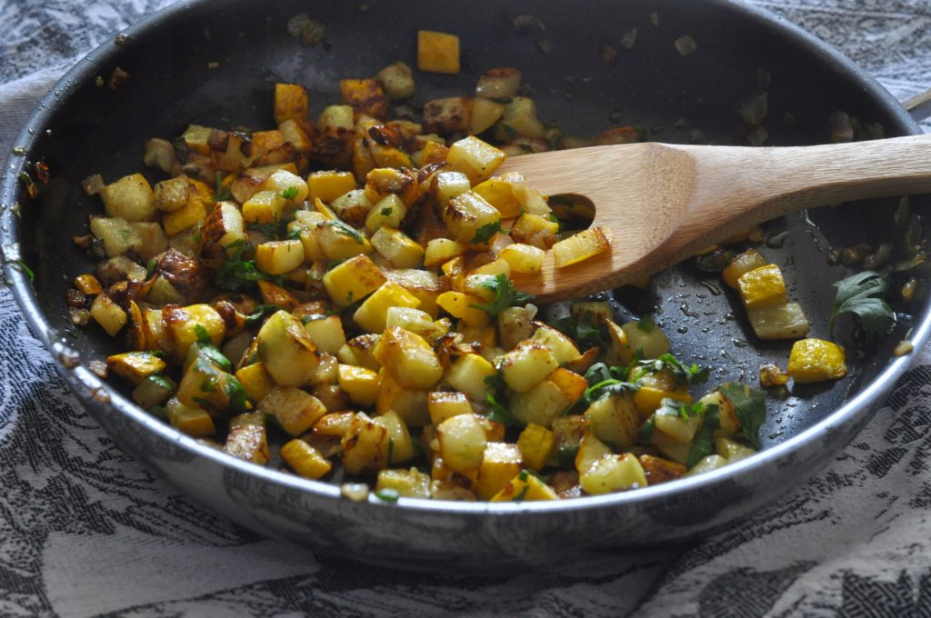 Skillet-roasted Yellow Squash Hash