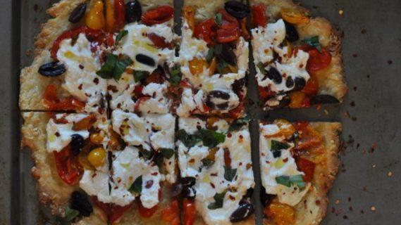 Tomato, Olive + Ricotta Tart