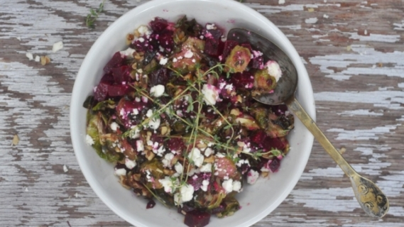 Brussels Sprouts, Beets + Thyme
