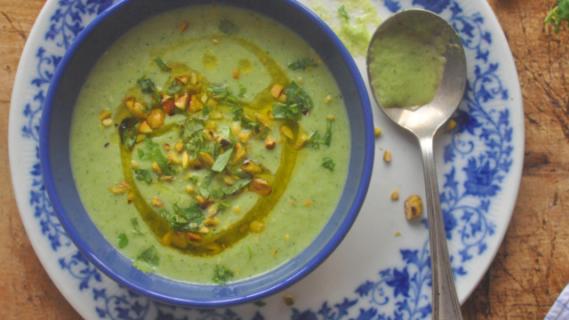 Cold Cucumber + Zucchini Soup